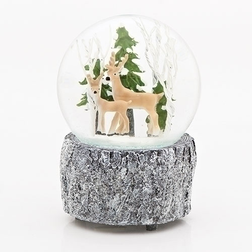 Musical Deer in Forest Glitter Dome