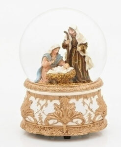 Musical Holy Family Glitter Dome
