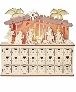 Lighted Nativity Advent Calendar