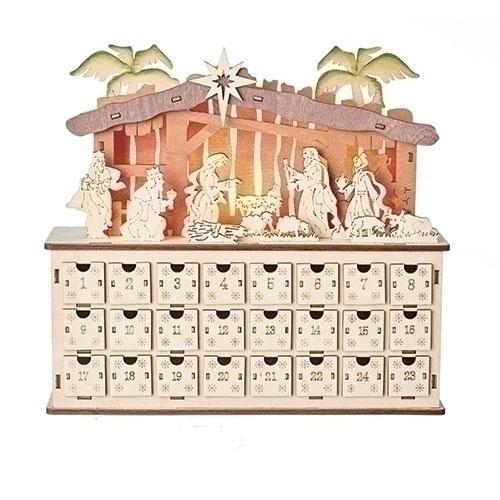 Lighted Nativity Advent Calendar