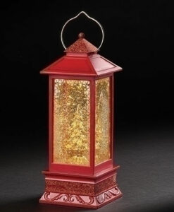 Lighted Swirl Gold Tree Lantern | Confetti Lites