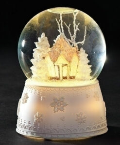 LED Frost Gingerbread House Glitter Dome