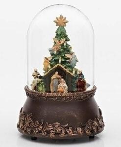 Musical Rotating Nativity Scene Glitter Dome