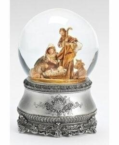 Musical Nativity Scene Glitter Dome