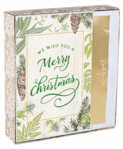 We Wish You A Merry Christmas | 18 Premium Christmas Boxed Cards