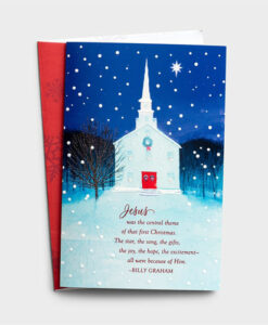 Jesus Was The Central Theme - Billy Graham | 18 Premium Christmas Boxed Cards
