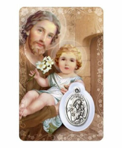 St. Joseph Prayer Card with Medal | English