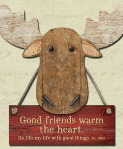 Chocolate Moose Magnet | Good Friends Warm the Heart