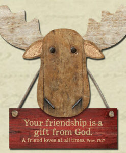 Chocolate Moose Magnet | Your Friendship Is A Gift From God