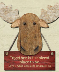 Chocolate Moose Magnet | Together Is The Nicest Place To Be