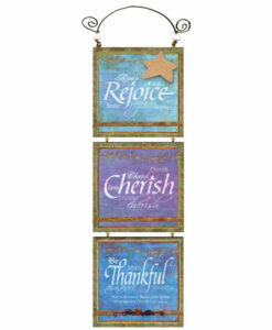 You're My Star Triple Plaque | Rejoice, Cherish, Thankful
