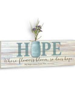 Mason Jar Word Box Plaque | Hope