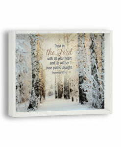 Box Plaque - Snow Themed | Trust In The Lord