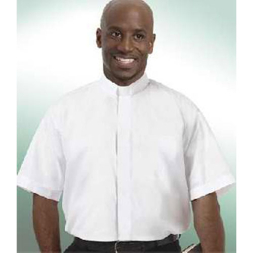 Tab Collar Clergy Shirt Short Sleeve White