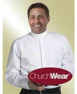 Banded Collar & French Cuff Clergy Shirt Long Sleeve White