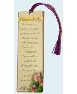 Bookmark Peace and Joy with Tassel