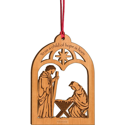 Laser cut Christmas Ornament | To Us A Child Of Hope Is Born