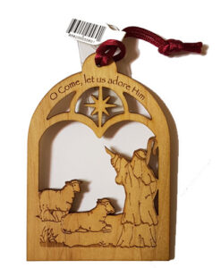Laser cut Christmas Ornament | O Come, Let Us Adore Him