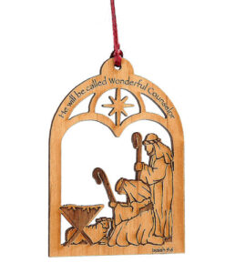 Laser cut Christmas Ornament | He Will Be Called Wonderful Counselor