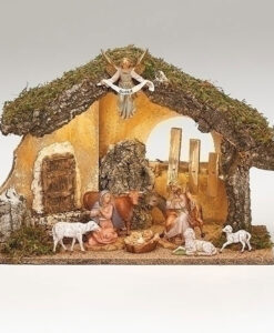 "9 Piece Nativity Set with LED Italian Stable for Fontanini® 5"" Nativity Collection"