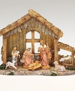 "7 Piece Nativity Set with LED Stable for Fontanini® 5"" Nativity Collection"