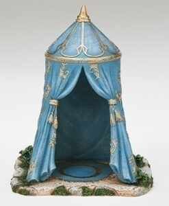 "Blue Tent Three Kings Village Building for Fontanini® 5"" Nativity Collection"