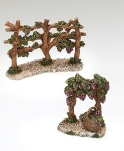 """Vineyard Fence 2pc set Village Accessories for Fontanini® 5"""" Nativity Collection"""