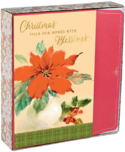 Christmas Poinsettia Inspirational Christmas Cards | 18 Christmas Boxed Cards