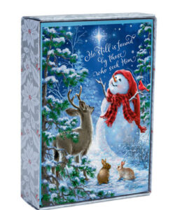 Snowman Gazer and Friends Inspirational Christmas Cards | 18 Christmas Boxed Cards