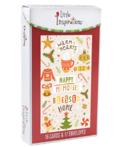 Warm Hearts Little Inspirations Christmas Cards | 16 Christmas Boxed Cards
